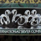 International Silver 4 pc Silverplated Swan Napkin Rings