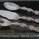 International Silverplated Grape Design Serving Set