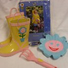 Garden Place Kid's Flower Raincoat & Boots Set