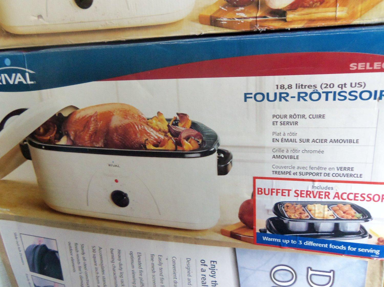 Rival White 20 Quart Roaster Rotisserie