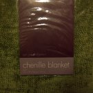 Luxurious Chenille Queen Blanket Olive Green