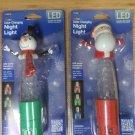 Jasco LED Color Change Night Light Set of 2 - Santa & Snowman