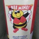 Bee Mine Valentine Decorative Applique Flag
