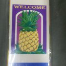 Welcome Pineapple Decorative Screen Printed Flag