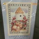 Easter Bunny & Birdhouse Decorative Screen Printed Flag