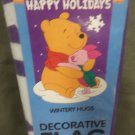 Happy Holidays Hugs Winnie the Pooh & Piglet Decorative Applique Flag