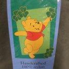 St Patrick's Winnie the Pooh Decorative Applique Flag