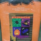 Halloween Welcome Decorative Applique Flag