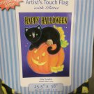 Halloween Black Cat Pumpkin Decorative Screen Printed Flag