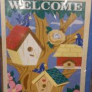 Birdhouses Welcome Decorative Screen Printed Flag