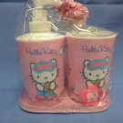 Hello Kitty Pink Bathroom Cup & Lotion Dispenser
