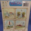 Tulip Rub-on Transfers Lighthouse Seashore Design