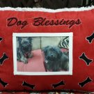Dog Blessings Holiday Home Throw Pillow