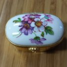 Limoges Artoria Floral Trinket Ring Box