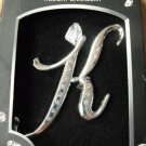 """Harvey Lewis Crystal Holiday Ornament - Initial """"K"""""""