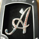 "Harvey Lewis Crystal Holiday Ornament - Initial ""A"" Red"