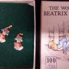 Beatrix Potter 22ct Gold Plated Earrings - Benjamin Bunny