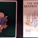 Beatrix Potter 22ct Gold Plated Brooch Pin - Peter Rabbit