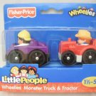 Fisher Price Little People Wheelies Monster Truck & Tractor