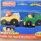 Fisher Price Little People Wheelies Tow Truck & Recycling Truck
