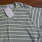 in(due)time Cotton V Neck Tee - Light Green Stripe XL