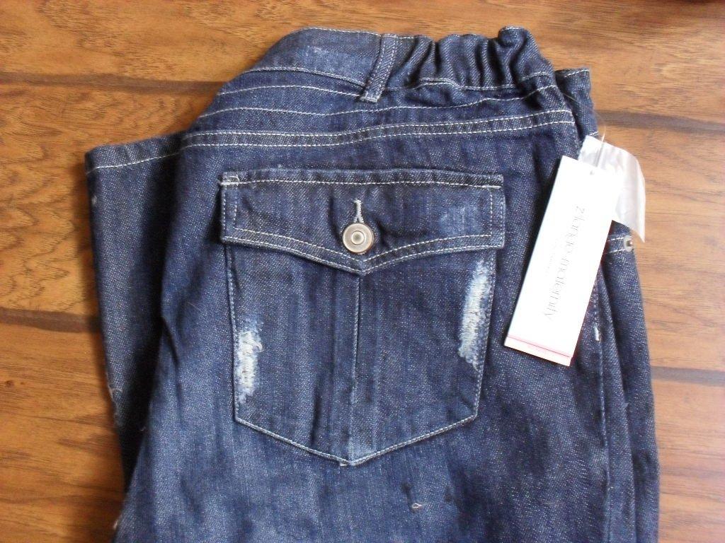 2699c071311 Liz Lange Denim Distressed Style Straight Leg Maternity Jeans Size 12
