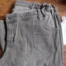 Liz Lange Denim Taupe Slim Leg Maternity Jeans Size 10