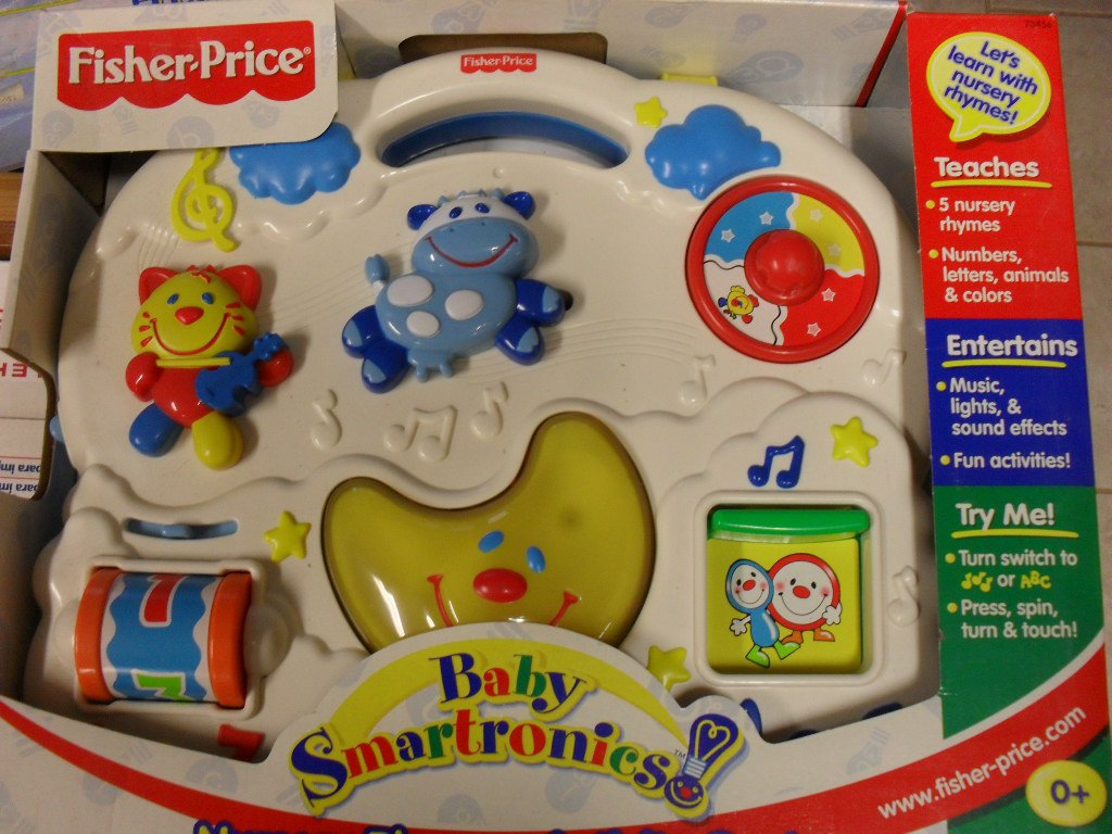 Vintage TESTED Fisher Price Baby Smartronics Nursery ...  |Fisher Price Bus Nursery Rhymes