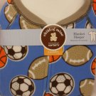 Carter's Child of Mine Blanket Sleeper - Football Soccer - 4 toddler