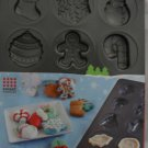 Sweet Creations Holiday Cookie Molds Pan - NEW