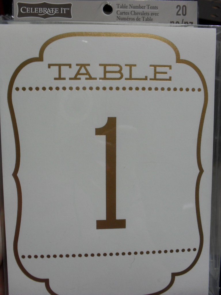 Celebrate It Table Number Tents - Gold Foil