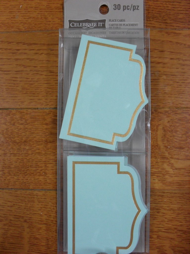 Celebrate It Table Number Tents - Gold Foil on Mint Color