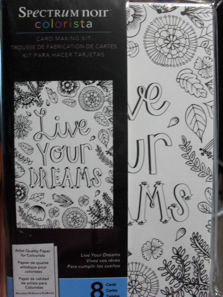 Spectrum Noir Colorista Card Making Kit - Live Your Dreams