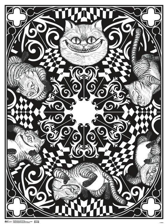 ArtZone Poster - Doodle Coloring - Alice in Wonderland