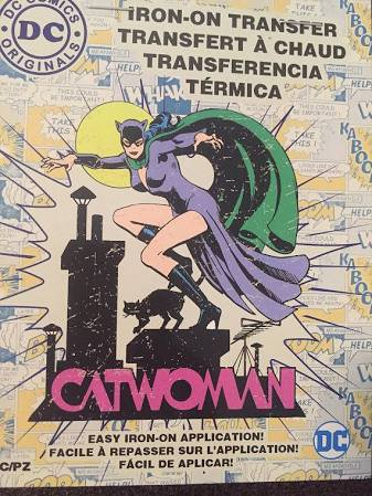 DC Comics Catwoman Iron-on Transfer