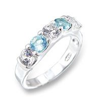 Light Blue Topaz CZ Ring - BBlb