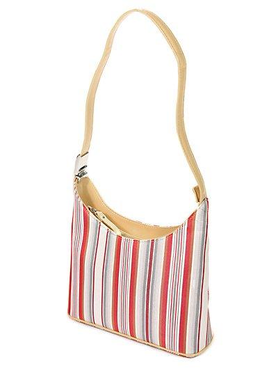 Designer Inspired Striped Handbag - BBrg