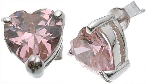Celebrity Pink Heart Earrings - BBph