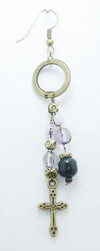 Cross Bead Artisan Earrings - BBcb