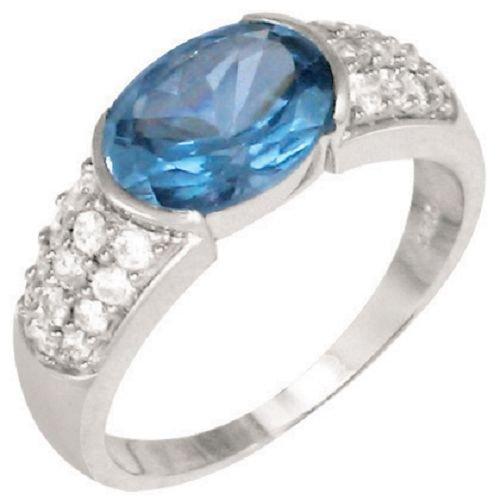 Blue Topaz CZ Ring - BBbt