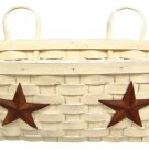 Star Wall Basket - Antique White - GJHE4933M