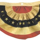 American Flag Bunting w/Embroidered Stars - Tea Stained Small - GFL04