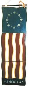 Folding Wood Flag - Large - G21115