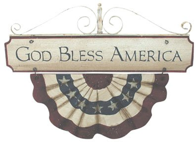 God Bless America Plaque - G23420