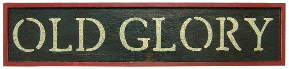 Old Glory Sign - GJHE5399