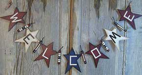 Americana Welcome Star Garland - G21138