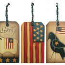 Americana Wood Tags - 3/Set - G9110