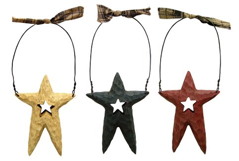 Chunky Star Ornaments - 3/Set - G19061