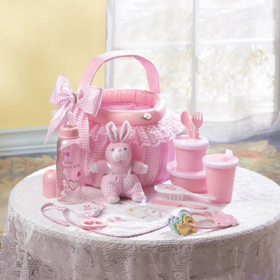 BABY GIFT BASKET IN PINK  - MMpink #36741