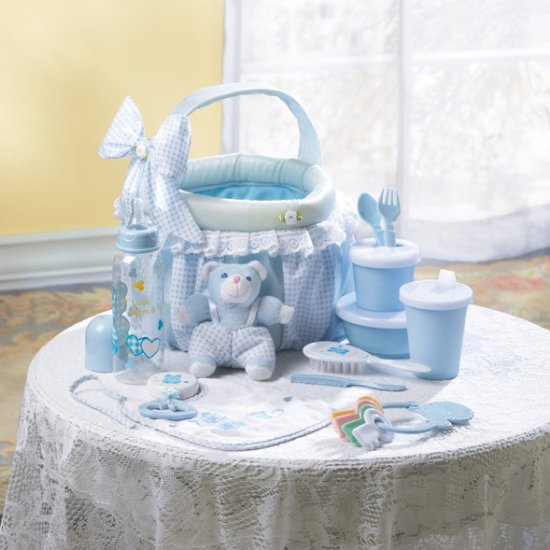 BABY GIFT BASKET IN BLUE - MM36740